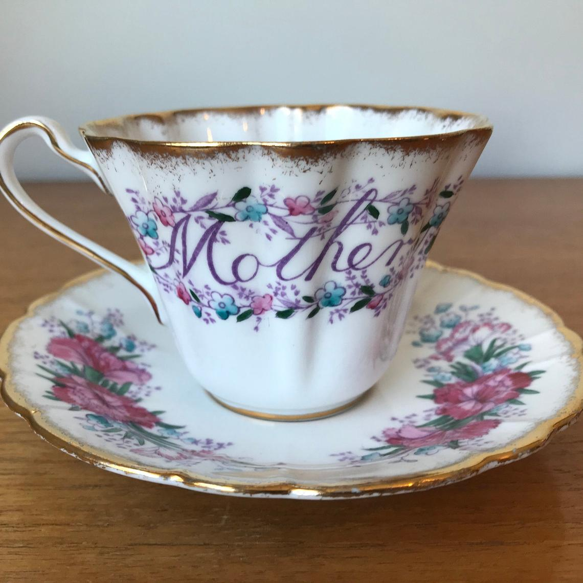 Mother Tea Cup and Saucer, Royal Stafford Special Occasion Series Floral Teacup and Saucer