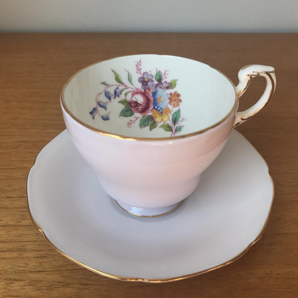 Paragon Light Purple Teacup and Saucer, Pastel Purple Tea Cup and Saucer, Vintage Floral English Bone China