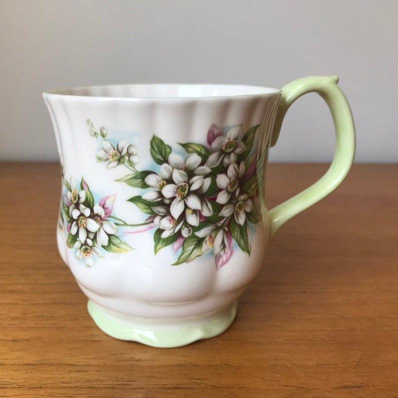 Royal Albert Coffee Cup, Blossom Time Series Orange Blossom Bone China Mug