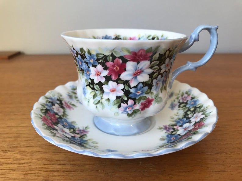 Royal Albert Fragrance Series Clematis Tea Cup and Saucer