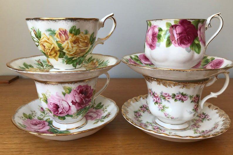 Royal Albert Tea Set, English Bone China Teacups and Saucers, Floral Tea Cups and Saucers, Princess Garden Tea Party